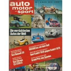auto motor & sport Heft 11 / 26 Mai 1976 - Die verrücktesten Autos der Welt