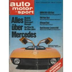 auto motor & sport Heft 24 / 24 November 1976 - Weltrekordwagen Mercedes-Benz C111