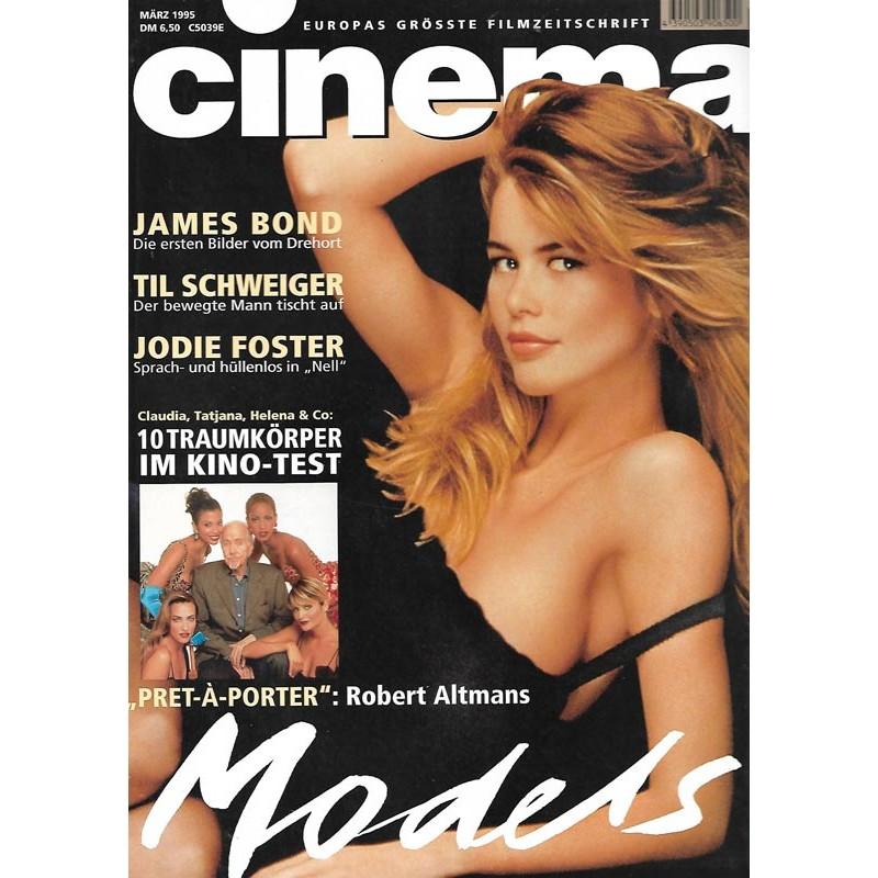 CINEMA 3/95 März 1995 - Claudia Schiffer Models