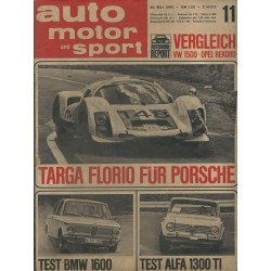 auto motor & sport Heft 11 / 28 Mai 1966 - Targa Florio für Porsche