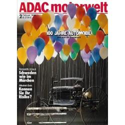 ADAC Motorwelt Heft.2 / Februar 1986 - 100 Jahre Automobil
