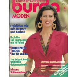 burda Moden 4/April 1990 - Fröhlicher Mix mit Mustern & Farben