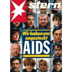 stern Heft Nr.9 / 19 Februar 1987 - Wir haben uns angesteckt AIDS