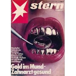 stern Heft Nr.1 / 30 Dezember 1981 - Gold im Mund, Zahnarzt gesund