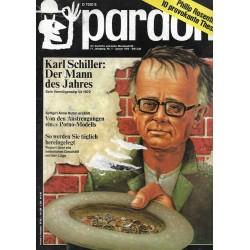 pardon Heft 1 / Januar 1972 - Karl Schiller, der Mann des Jahres