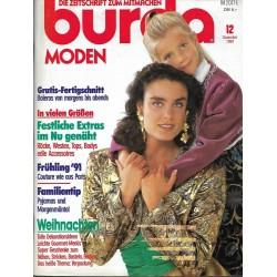 burda Moden 12/Dezember 1990 - Festliche Extras im Nu genäht