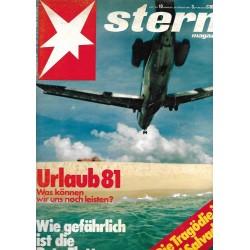 stern Heft Nr.10 / 26 Februar 1981 - Urlaub 81