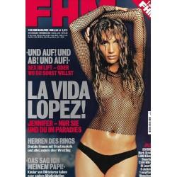FHM November 2001 - Jennifer Lopez: La Vida Lopez