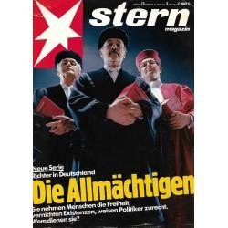 stern Heft Nr.13 / 25 März 1982 - Die Allmächtigen