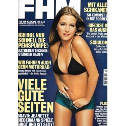FHM Oktober 2001 - Jeanette Biedermann