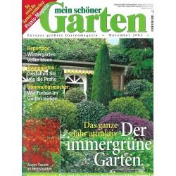 Mein schöner Garten / November 2003 - Der immergrüne Garten