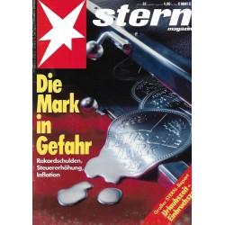 stern Heft Nr.32 / 1 August 1991 - Die Mark in Gefahr