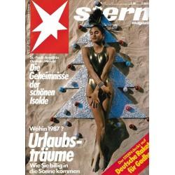 stern Heft Nr.1 / 23 Dezember 1986 - Urlaubsträume