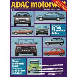 ADAC Motorwelt Heft.11 / November 1985 - 22 saubere Autos