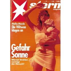 stern Heft Nr.24 / 4  Juni 1992 - Gefahr Sonne