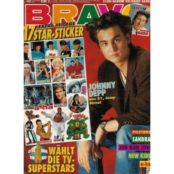 BRAVO Nr.48 / 22 November 1990 - Johnny Depp aus 21, Jump Street