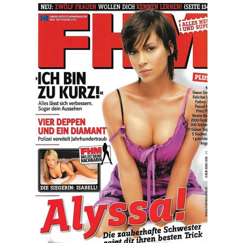 FHM Januar 2005 - Alyssa!