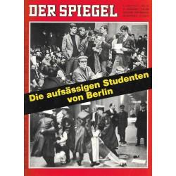 Der Spiegel Nr.24 / 5 Juni 1967 - Die aufsässigen Studenten
