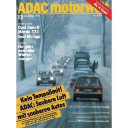 ADAC Motorwelt Heft.12 / Dezember 1985 - Kein Tempolimit!