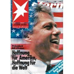 stern Heft Nr.3 / 14 Januar 1993 - Präsident Bill Clinton
