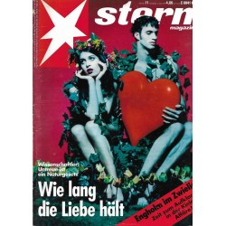 stern Heft Nr.11 / 11 März 1993 - Wie lang die Liebe hält