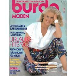burda Moden 7/Juli 1990 - Urlaubs-Hits 90