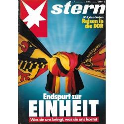 stern Heft Nr.7 / 8 Februar 1990 - Endspurt zur Einheit