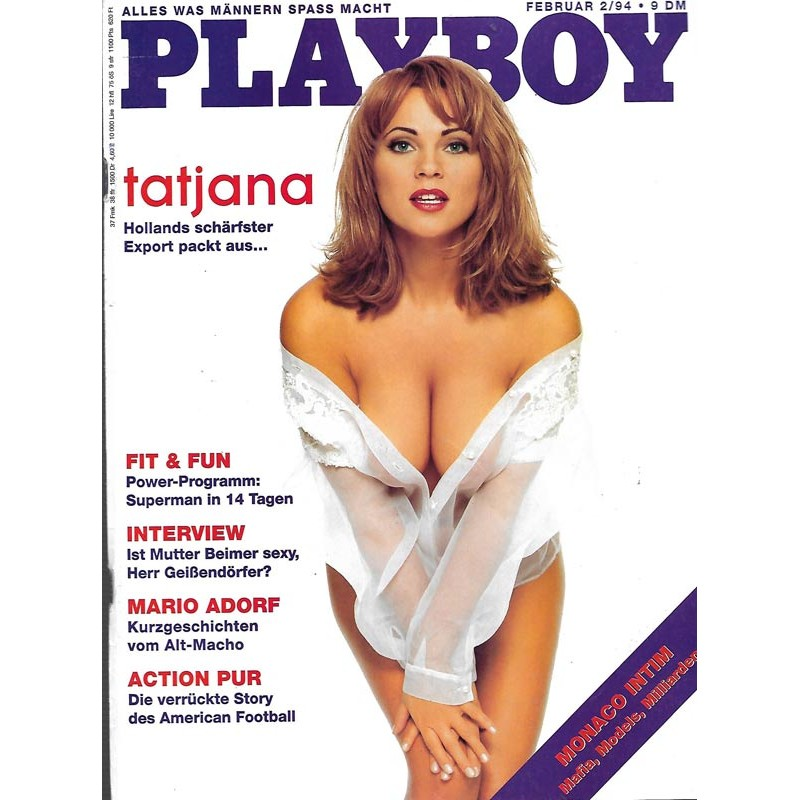 Playboy Nr.2 / Februar 1994 - Tatjana Simic