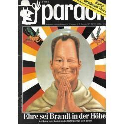 pardon Heft 12 / Dezember 1971 - Ehre sei Brandt in der Höhe!