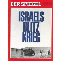 Der Spiegel Nr.25 / 12 Juni 1967 - Israels Blitz Krieg
