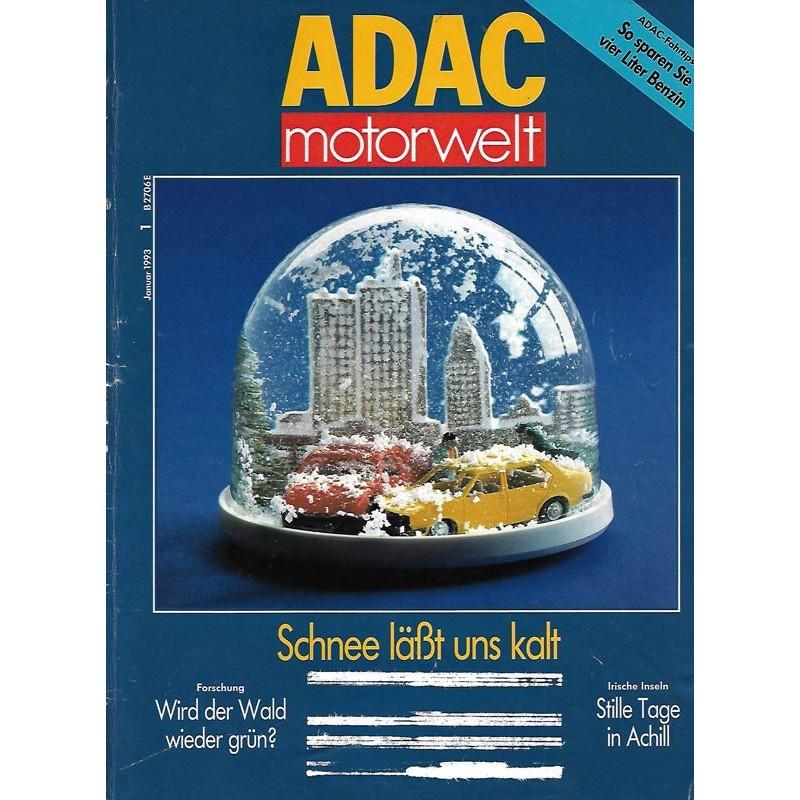 ADAC Motorwelt Heft.1 / Januar 1993 - Schnee läßt uns kalt