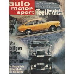 auto motor & sport Heft 17 / 17 August 1968 - Alles über den VW 411