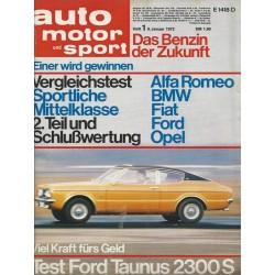 auto motor & sport Heft 1 / 8 Januar 1972 - Test Ford Taunus 2300 S