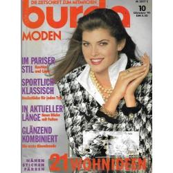 burda Moden 10/Oktober 1991 - Im Pariser Stil