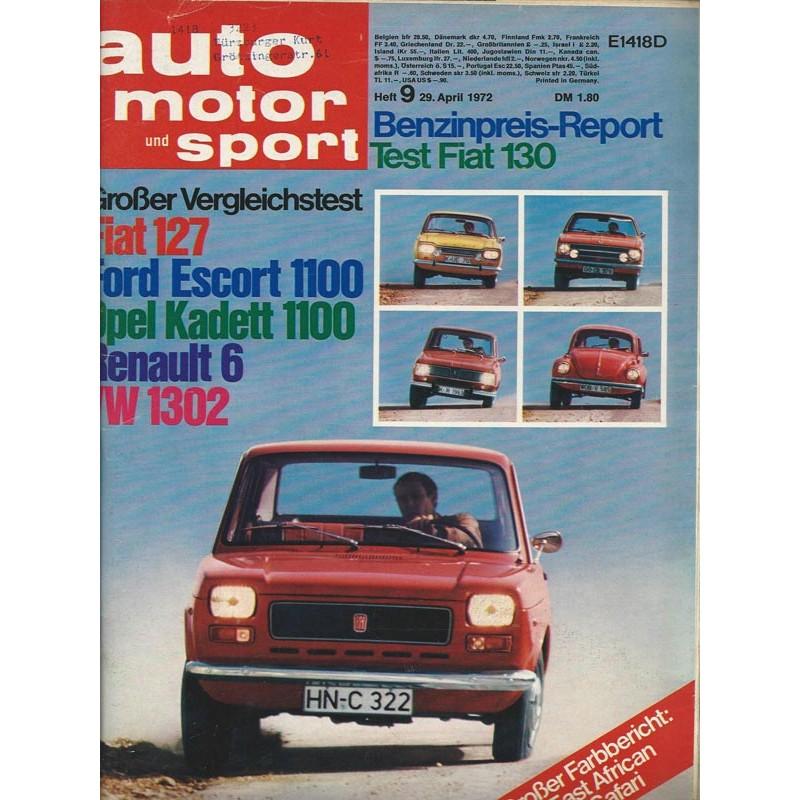 auto motor und sport Heft 9 / 29 April 1972