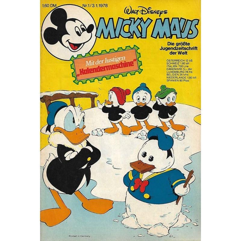 Micky Maus Nr. 1 / 3 Januar 1978 - Kalendermaschine