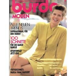 burda Moden 9/September 1990 - Sportswear jetzt Edel