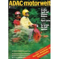 ADAC Motorwelt Heft.7 / Juli 1985 - Motorroller