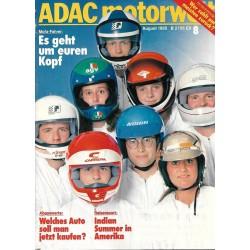 ADAC Motorwelt Heft.8 / August 1985 - Mofa Fahrer