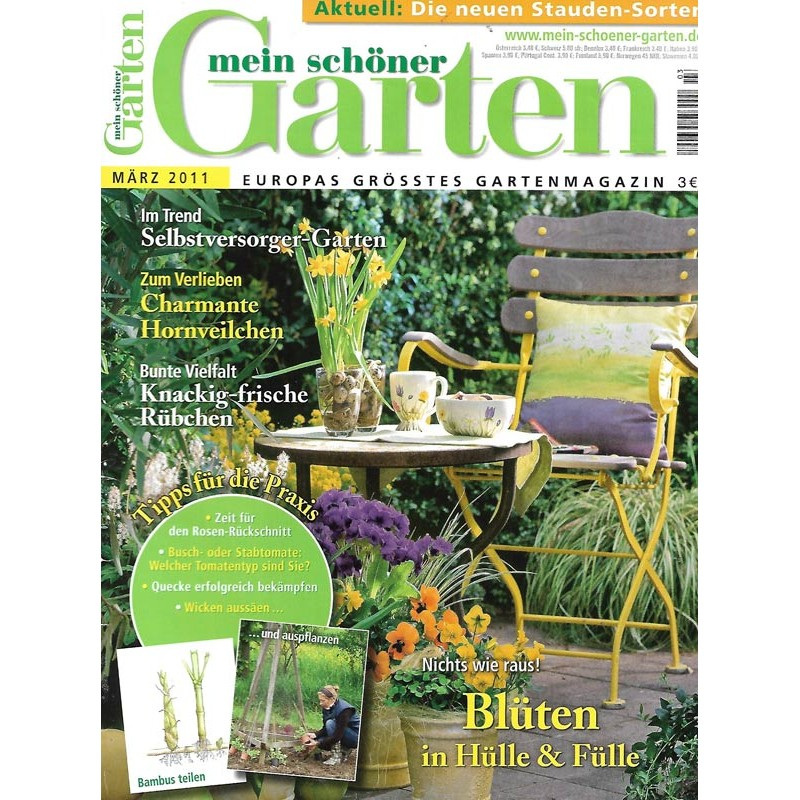 Mein Schoner Garten Marz 2011 Bluten In Hulle Fulle Mein Schoner Garten Altezeitschriften De
