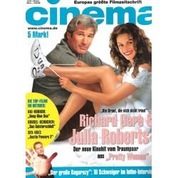 CINEMA 10/99 Oktober 1999 - Richard Gere & Julia Roberts