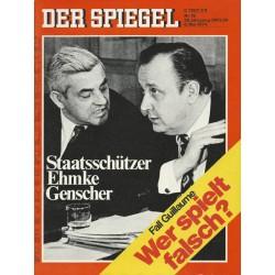 Der Spiegel Nr.19 / 6 Mai 1974 - Staatsschützer Ehmke Genscher