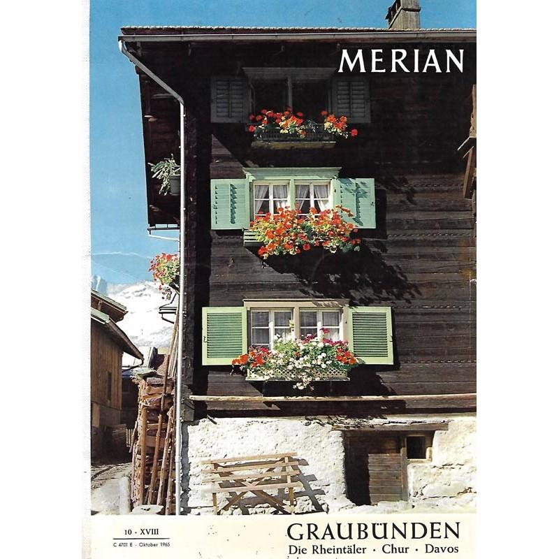 MERIAN Graubünden 10/XVIII Oktober 1965