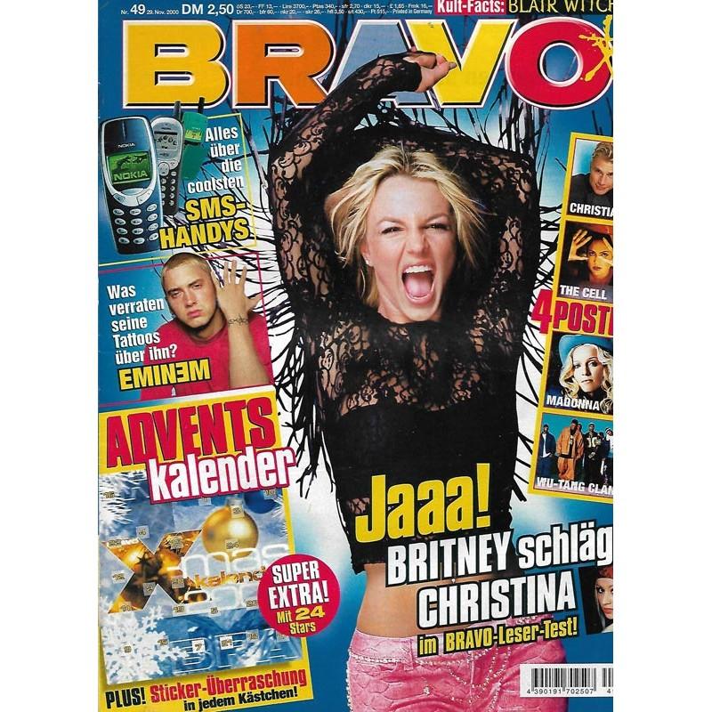 BRAVO Nr.49 / 29 November 2000 - Britney schlägt Christina
