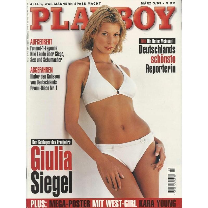 Playboy Nr.3 / März 1999 - Giulia Siegel