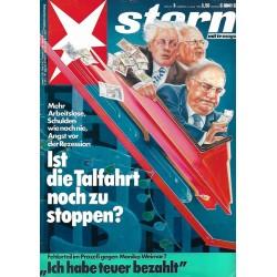 stern Heft Nr.3 / 14 Januar 1988 - Die Talfahrt stoppen?