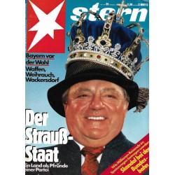 stern Heft Nr.39 / 18 September 1986 - Der Strauß Staat