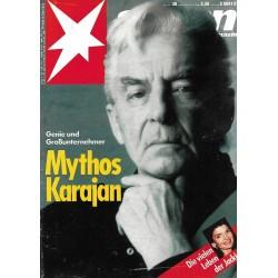 stern Heft Nr.30 / 20 Juli 1989 - Mythos Karajan