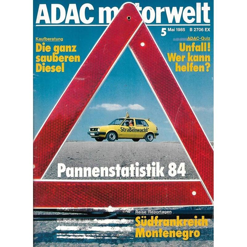 ADAC Motorwelt Heft.5 / Mai 1985 - Pannenstatistik 84