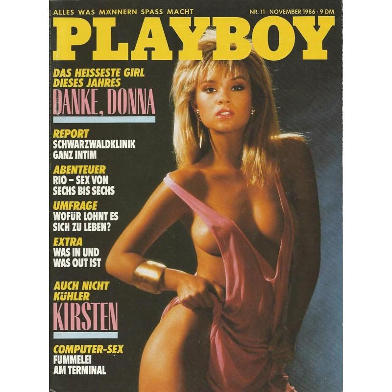 Playboy Nr.11 / November 1986 - Stephanie Norton